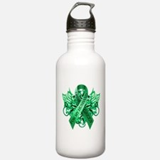 I Wear Green for my Husband Water Bottle
