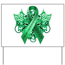 I Wear Green for my Granddaughter Yard Sign