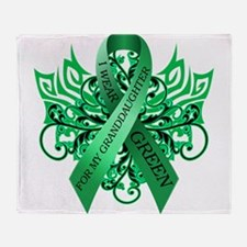 I Wear Green for my Granddaughter Throw Blanket