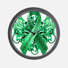 I Wear Green for my Granddaughter Wall Clock