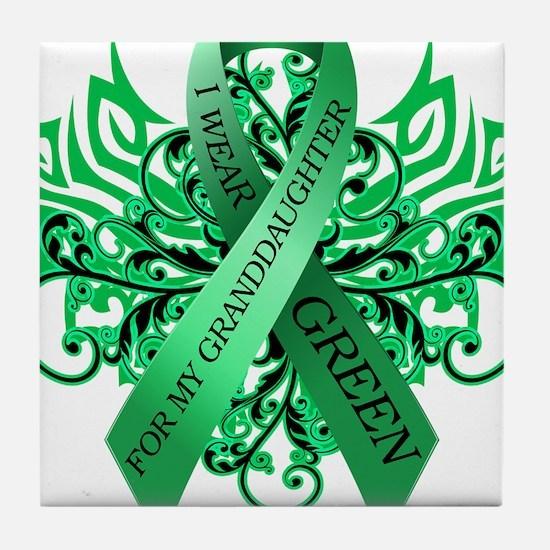 I Wear Green for my Granddaughter Tile Coaster