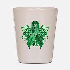 I Wear Green for my Granddaughter Shot Glass