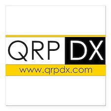 """QRP DX Square Car Magnet 3"""" x 3"""""""