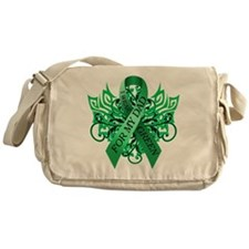 I Wear Green for my Dad Messenger Bag