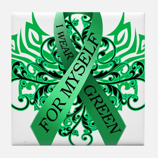 I Wear Green for Myself Tile Coaster
