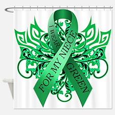 I Wear Green for my Niece Shower Curtain