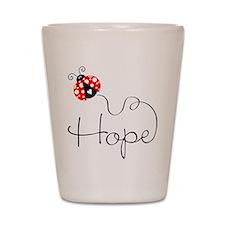 Ladybug Hope Shot Glass