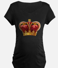 Vintage Royal Crown of Gold Maternity T-Shirt
