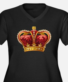 Vintage Royal Crown of Gold Plus Size T-Shirt
