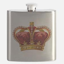 Vintage Royal Crown of Gold Flask