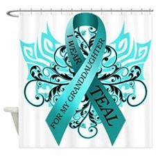 I Wear Teal Shower Curtain