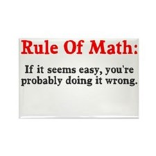 Rule of Math Rectangle Magnet