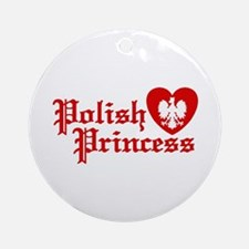 Polish Princess Ornament (Round)