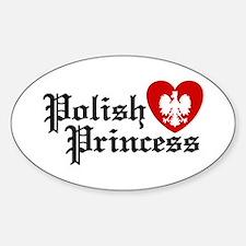 Polish Princess Oval Decal