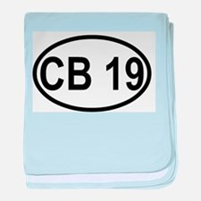 CB Channel 19 baby blanket