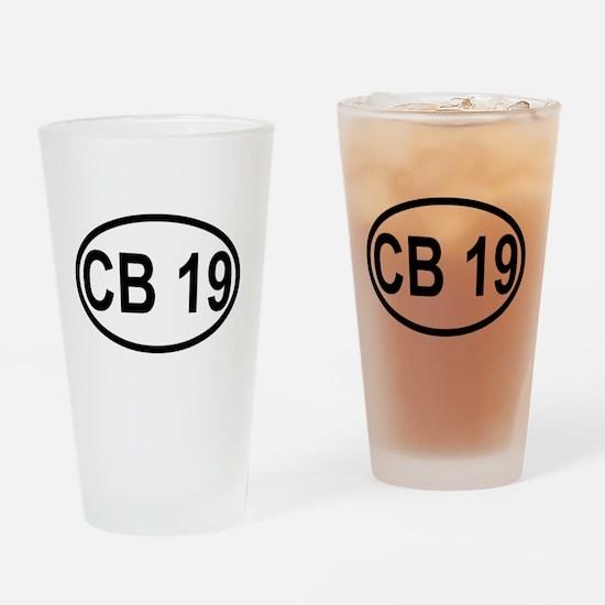 CB Channel 19 Drinking Glass