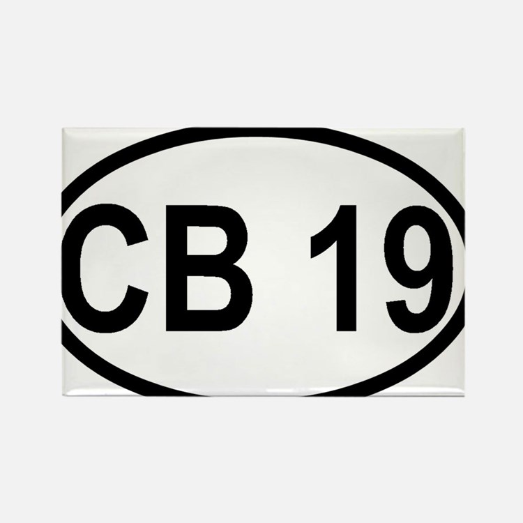 CB Channel 19 Rectangle Magnet
