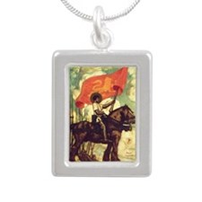 Joan of Arc Silver Portrait Necklace