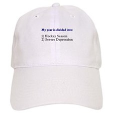 Hockey Season Severe Depression Baseball Cap