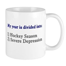 Hockey Season Severe Depression Mug