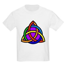 Balanced Rainbow Chakra Triquetra T-Shirt