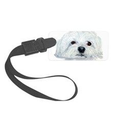 Bogart the Maltese Luggage Tag