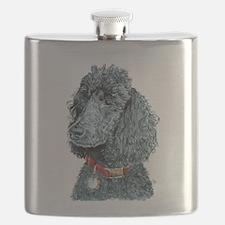 Black Poodle Whitney Flask