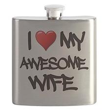 I Heart My Awesome Wife Flask