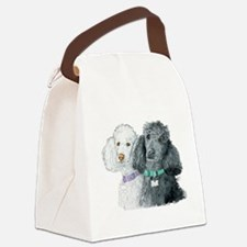 Two Poodles Canvas Lunch Bag
