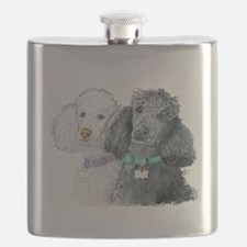 Two Poodles Flask
