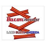 Bacon Lard Bless America Small Poster