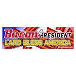 Bacon Lard Bless America Sticker (Bumper)