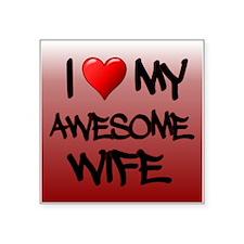I Heart My Awesome Wife Sticker