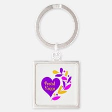 Proud Nanna Heart Square Keychain