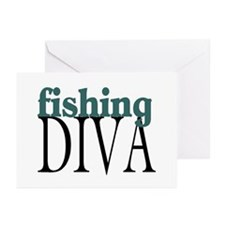 Fishing Diva Greeting Cards (Pk of 10)