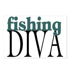 Fishing Diva Postcards (Package of 8)