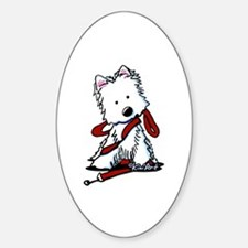 LET'S GO! Westie Sticker (Oval)
