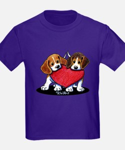 Beagle Heartfelt Duo T