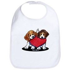 Beagle Heartfelt Duo Bib