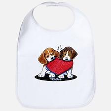 Beagle Heartfelt Duo Bib