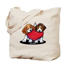 Beagle Heartfelt Duo Tote Bag