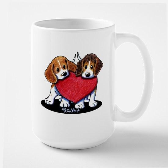 Beagle Heartfelt Duo Large Mug