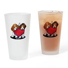 Beagle Heartfelt Duo Drinking Glass