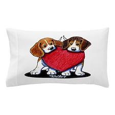 Beagle Heartfelt Duo Pillow Case