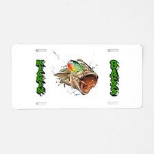 Kickin Bass Aluminum License Plate