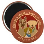 Adopt-a-Dog-Graphic Magnet