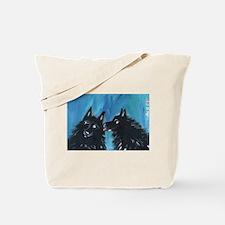 Schipperke kiss Tote Bag