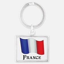 Flag of France Landscape Keychain