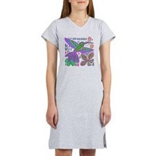 CRAZY ABOUT HUMMINGBIRDS Women's Nightshirt