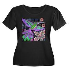CRAZY ABOUT HUMMINGBIRDS Plus Size T-Shirt